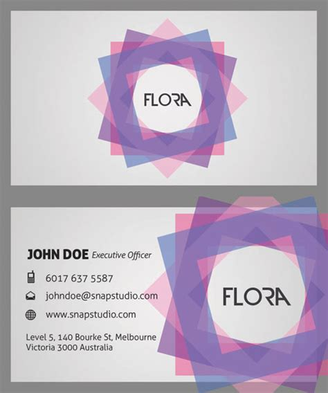 Material Design Vorlagen Exquisite Visitenkarten Vorlage Platte Positiv Negativ Gestaltung Mit