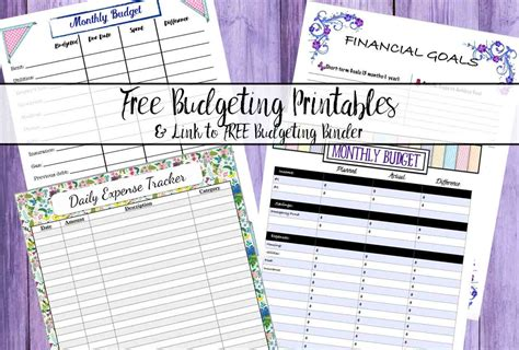 Free Budgeting Printables: Expense Tracker, Budget, & Goal