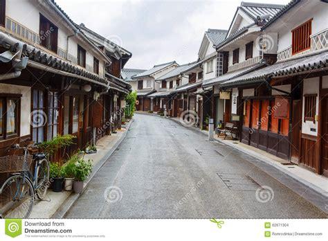 japanese town kurashiki city old japanese town in okayama stock photo