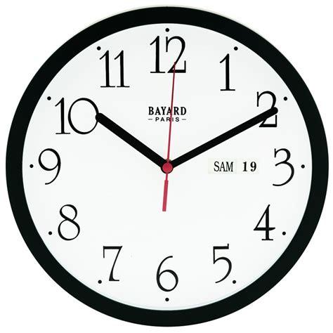 horloge murale avec date et jour pendule murale 224 calendrier jour et date