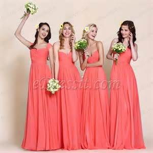 coral color bridesmaid dresses mismatched coral bridesmaid dresses for your wedding
