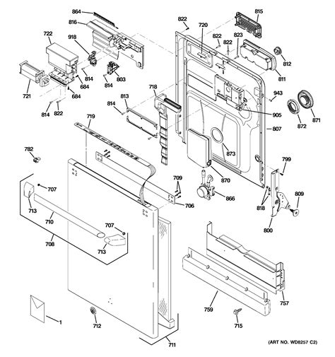 ge refrigerator parts diagram unique ge ge cafe dishwasher