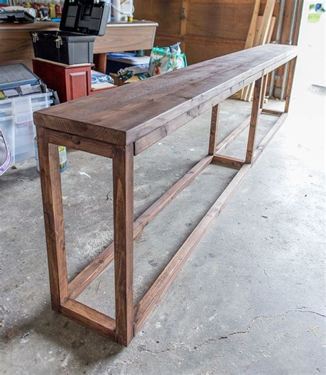 table sofa best 25 diy sofa table ideas on