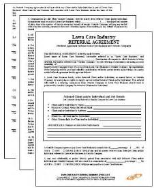 Referral Contract Template by Lawn Maintenance Business Referral Agreement Lawn