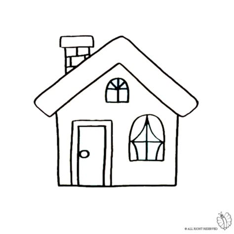 immagini camino disegno di casa con camino da colorare per bambini