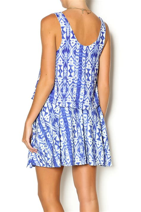 Tribal Blue Chika Dress honey punch blue tribal dress from new jersey by runaway