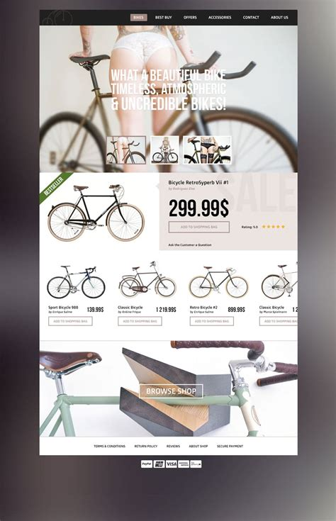 Latest Free Web Page Templates Psd 187 Css Author Bike Shop Website Template