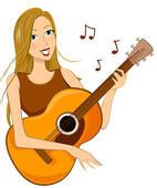 girl playing guitar clip art playing guitar stock illustrations gograph