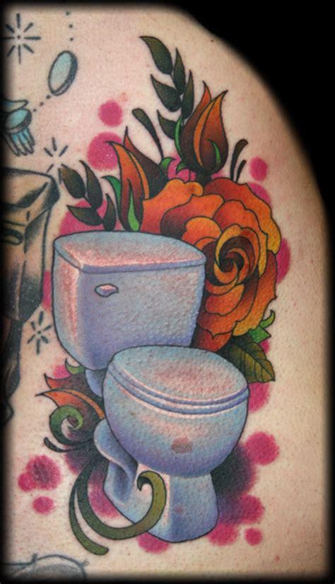 toilet tattoos toilet by jeff ensminger tattoonow