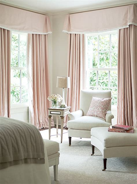 pictures of bedroom curtains white bedroom with pink valance and curtains traditional