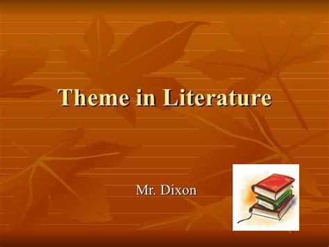 themes literature powerpoint theme in literature