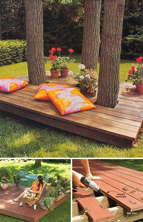 diy backyard deck ideas top 19 simple and low budget ideas for building a floating