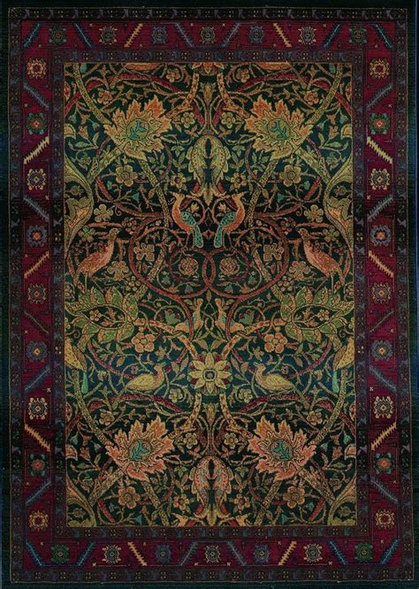 Mission Style Area Rugs 5x8 William Morris Arts Crafts Mission Style Multi Colored Area Rug