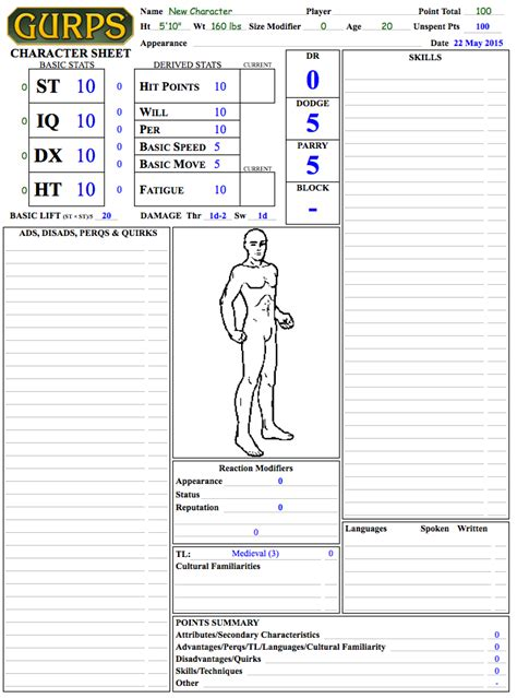 gurps npc character card template gurps jcsp