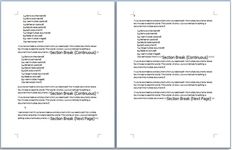 how to insert section break word quickly remove all section breaks from document in word
