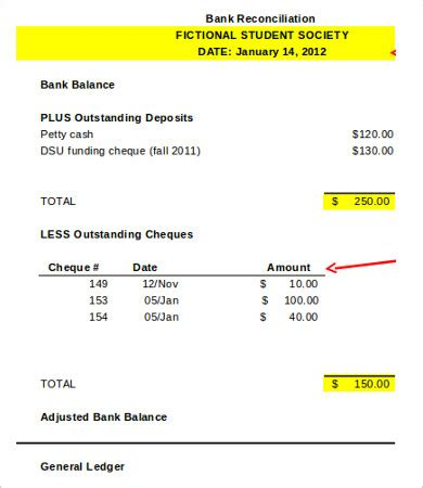bank reconciliation template 11 free excel pdf