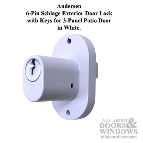 Schlage Patio Door Lock 6 Pin Lock Schlage Exterior Door Lock All About Doors And Windows