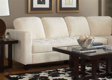 white fabric sectional sofa 500715 walker sectional sofa by coaster in off white fabric