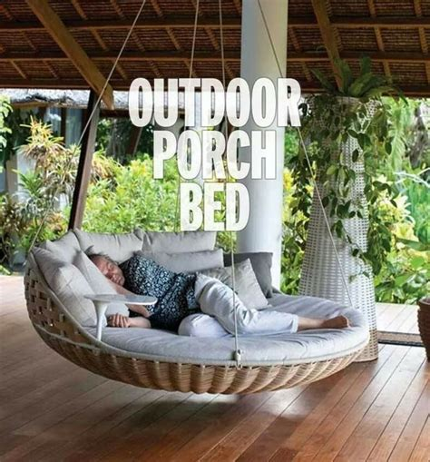 hanging porch bed outdoor porch bed house and home pinterest