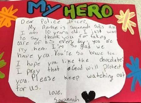 Thank You Network Gift Cards - 10 year old girl thanks police officers with 200 hand made cards good news network