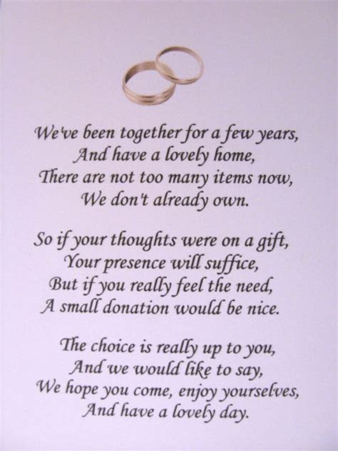 No At Your Wedding by No Gift Wording On Wedding Invitations 12 Best Wedding