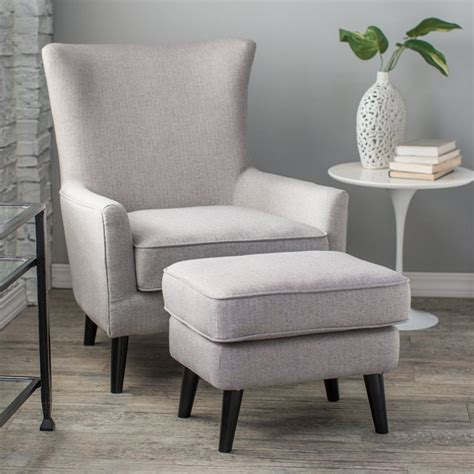 occasional chair and ottoman belham living wool herringbone occasional chair and