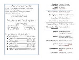 lds sacrament meeting program template lds sacrament meeting templates just b cause
