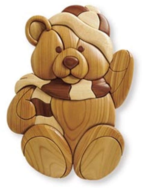 Intarsia Teddy Woodworking Plan From Wood Magazine