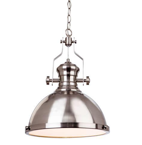 Steel Pendant Light Firstlight Albion 1 Light Ceiling Pendant Light Brushed Steel Finish 5909bs From Easy Lighting
