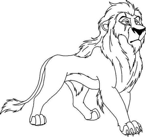 how to colour in a scar in your hairline the lion king awesome scar coloring page download