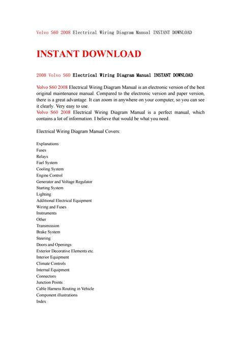 service manual pdf 2008 volvo xc90 electrical