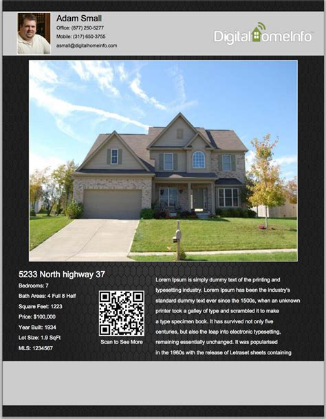 real estate listing flyer template free real estate craigslist flyers listing flyers for