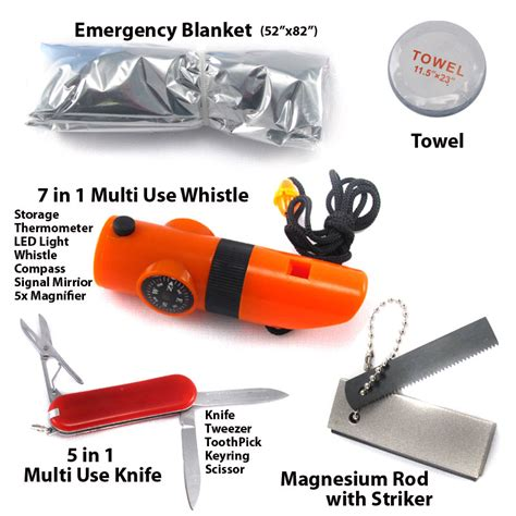 Perlengkapan Cing Survival Kit 13 In 1 16 in 1 survival kit with bottle ships free 13 deals