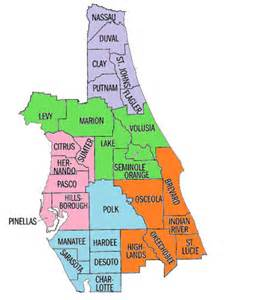 central counties map nuestros condados mapa central florida parent center