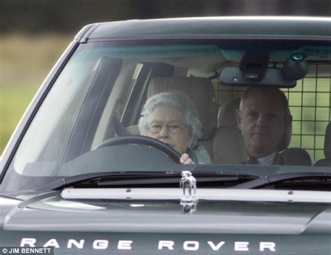 land rover queens the queen the duke of edinburgh and prince william take