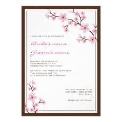 cherry blossom wedding card cherry blossom wedding invitations 5 quot x 7 quot invitation card