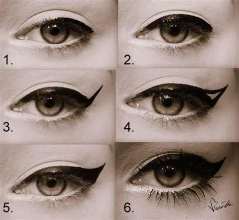 perfect winged eyeliner tutorial liquid step by step perfect eyeliner maquillage pinterest
