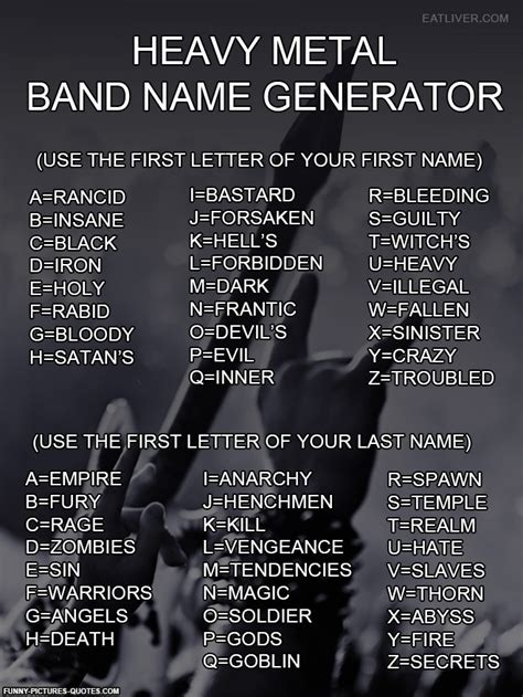 biography name generator funny heavy metal quotes quotesgram
