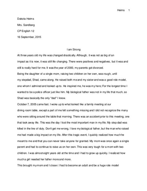 Personal Narrative Essay Sles personal narrative essay
