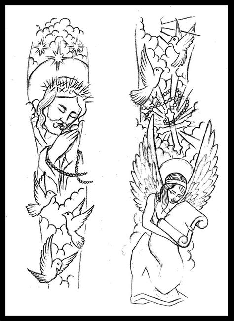 tattoo blueprint paper 19 best jesus sleeve tattoos for men drawing images on