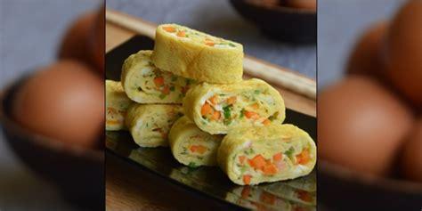 resep membuat telur gulung lezatnya resep telur dadar gulung korea gyeran mari