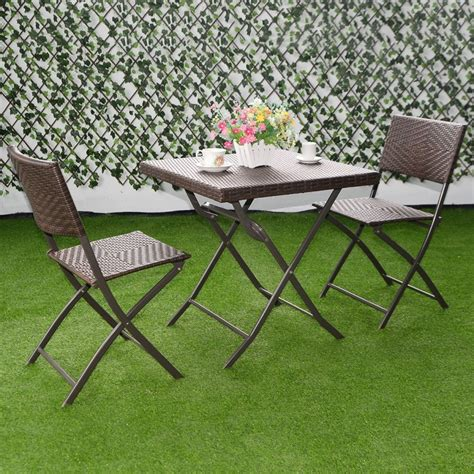 Folding Patio Table And Chairs - modern outdoor ideas folding furniture sets wicker patio