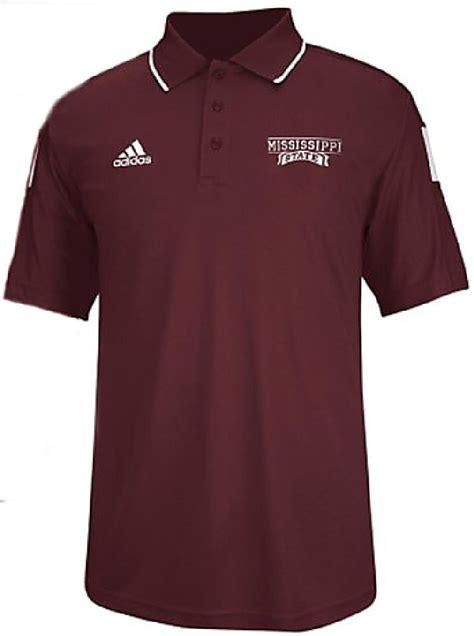 Polo Shirt Adidas Marron adidas mississippi state bulldogs maroon 14 sideline coaches performance polo shirt