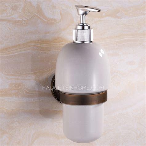 antique bronze wallmount soap dispensers bathroom