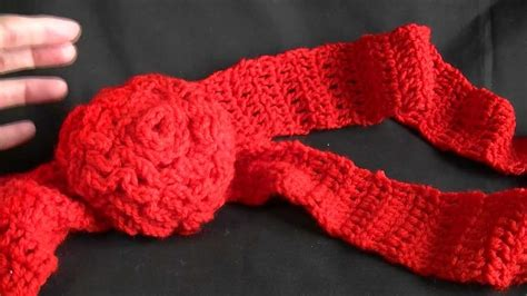 youtube tutorial crochet scarf easy scarf with flower crochet tutorial youtube