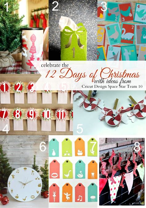 twelve days of christmas crafts 12 days countdown sugar bee crafts