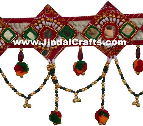 Handmade Toran - colourful handmade hanging toran home decor traditional