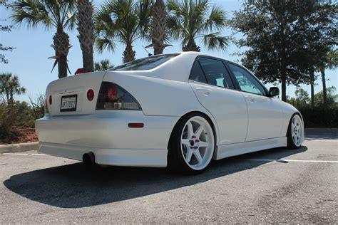 stanced lexus is300 white fl 2001 is300 vertex hks wald bcr s 19 s clublexus