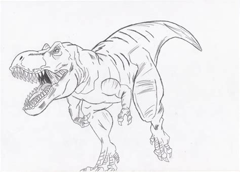 Drawing T Rex by My T Rex Drawing By Jockiz On Deviantart
