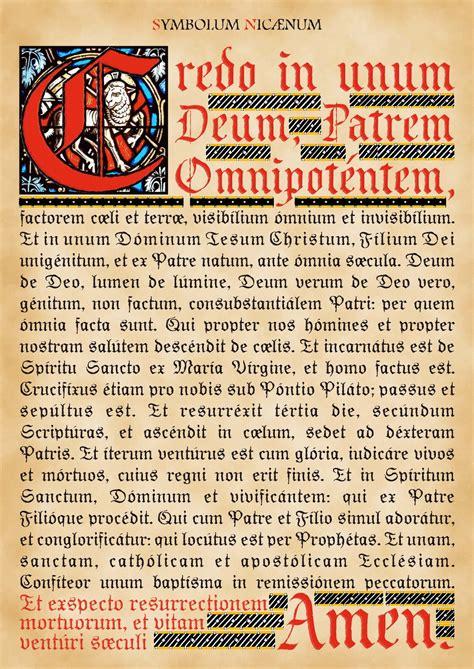 credo cattolico testo langue et religion denez et stquay